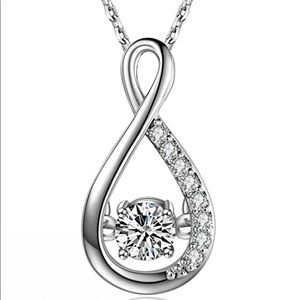 Jewelry - Silver Gemstone Infinity Pendent Necklace